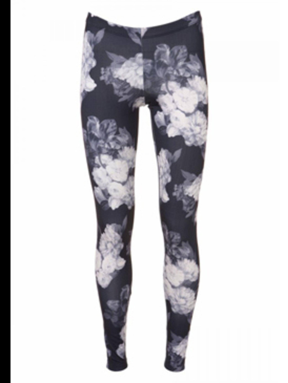 "<p>Digital floral print leggings, £20, by <a href=""http://www.topshop.com/webapp/wcs/stores/servlet/TopCategoriesDisplay?storeId=12556&catalogId=19551"">Topshop</a></p>"