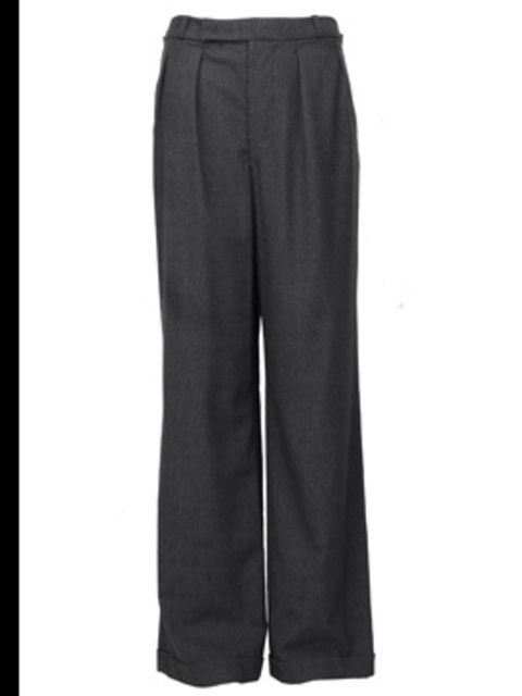 <p>Grey wide leg trousers, £221, by See by Chloe, available at Selfridges (0800 123 400)</p>