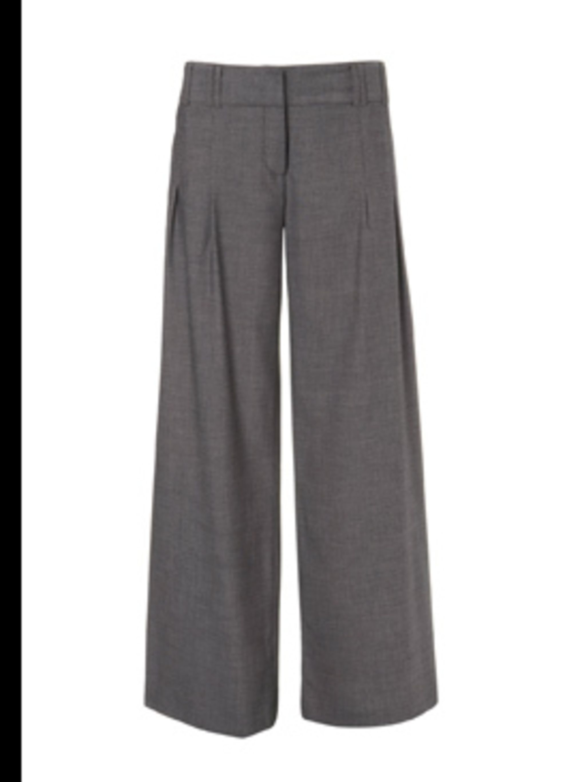 <p>Brown wool trousers, £45, by Warehouse (0870 122 8813)</p>