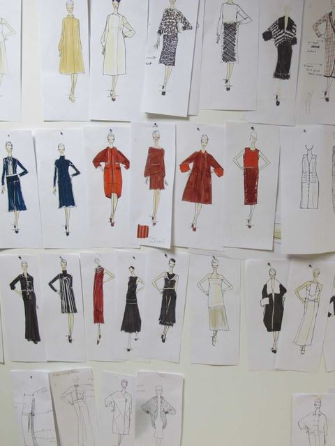 <p>Sketch board of the DAKS A/W '12 collection</p>