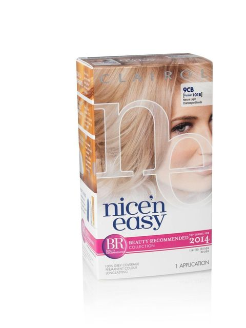 "<p><a href=""http://www.clairol.co.uk/en-UK/home-page.aspx"">Clairol</a> Nice 'n Easy Limited Edition Permanent Colour Crème in Natural Light Champagne Blonde (9CB), £5.99</p><p>This limited edition hair colour has been launched with fashion in mind. The Li"