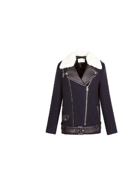 "<p>A warm wool coat with all the spirit of a rock'n'roll leather biker - what's not to love?</p><p><a href=""http://www.sandro-paris.com/eboutique-sandro/aw13/femme/manteaux/manteau-miel-marine/produit-fiche,18,4,14,1038337"">Sandro</a> coat, £445</p>"