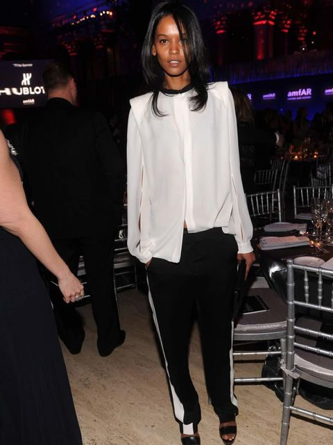 "<p>Liya Kebede IN <a href=""http://www.elleuk.com/catwalk/designer-a-z/3.1-phillip-lim/spring-summer-2012/collection"">3.1 Phillip Lim</a> at the amfAR New York Gala to kick off A/W 2012 Fashion Week</p>"