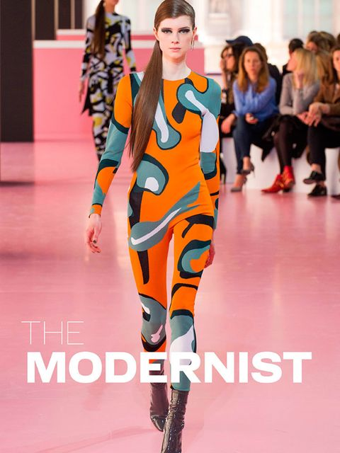 <p><strong>THE MODERNIST</strong></p>  <p>The overarching theme of a/w 2015 is blisteringly modern. Clothes that strike out with bold, clean lines and bursts of colour – make that wonderfully weird colour. Print goes optical, fabrics get more extreme, sha