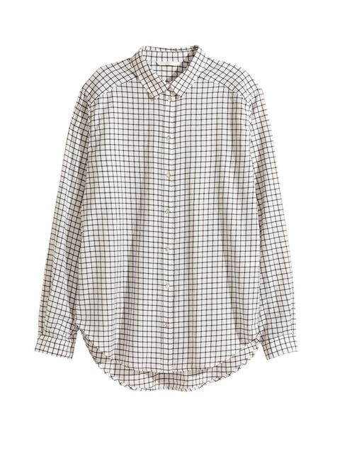 """<p>This<a href=""""http://www.hm.com/gb/product/02501?article=02501-H"""" target=""""_blank"""">H&M</a> shirt would look chic as a loose layer open over a tank top, £14.99</p>"""