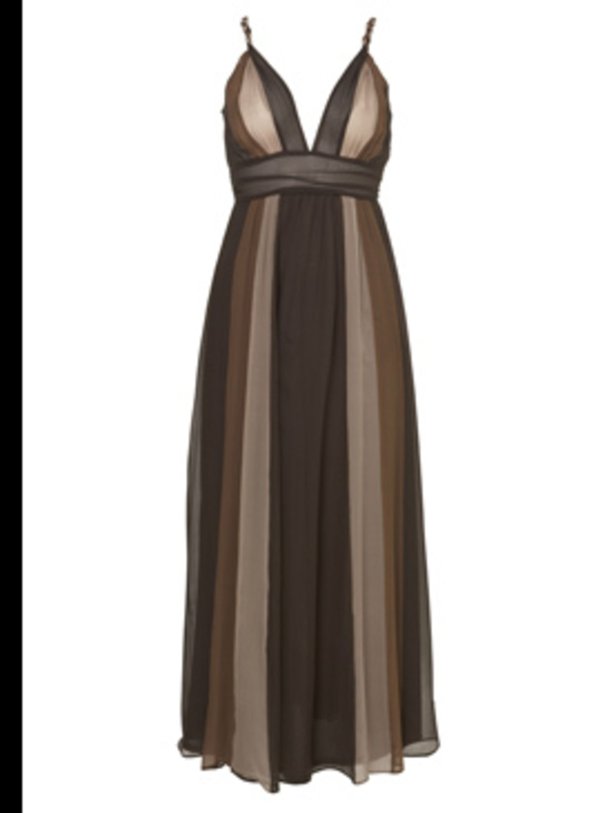 <p>Chocolate Striped Maxi Dress, £60 by Dorothy Perkins</p>