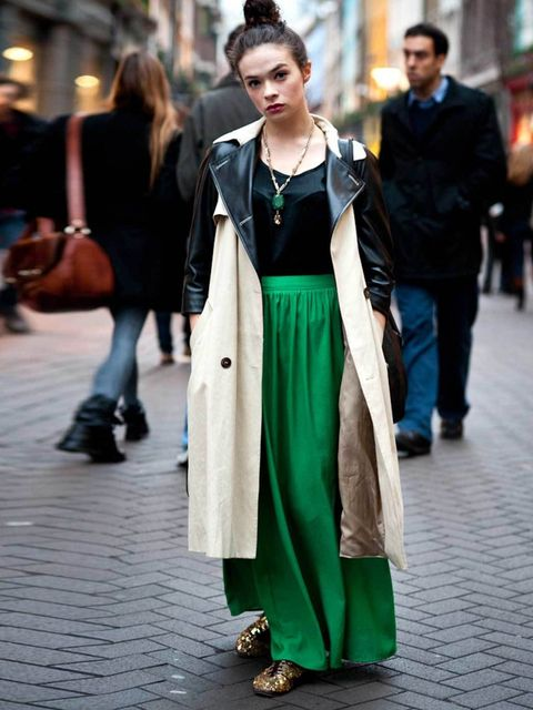 <p>E.J Martin, 22, Actress. Topshop coat &amp&#x3B; skirt, vintage top &amp&#x3B; shoes, Forever 21 necklace.</p>