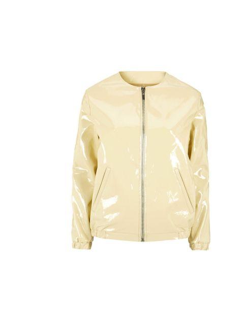 <p>J.W. Anderson x Topshop patent cream jacket, £200</p>