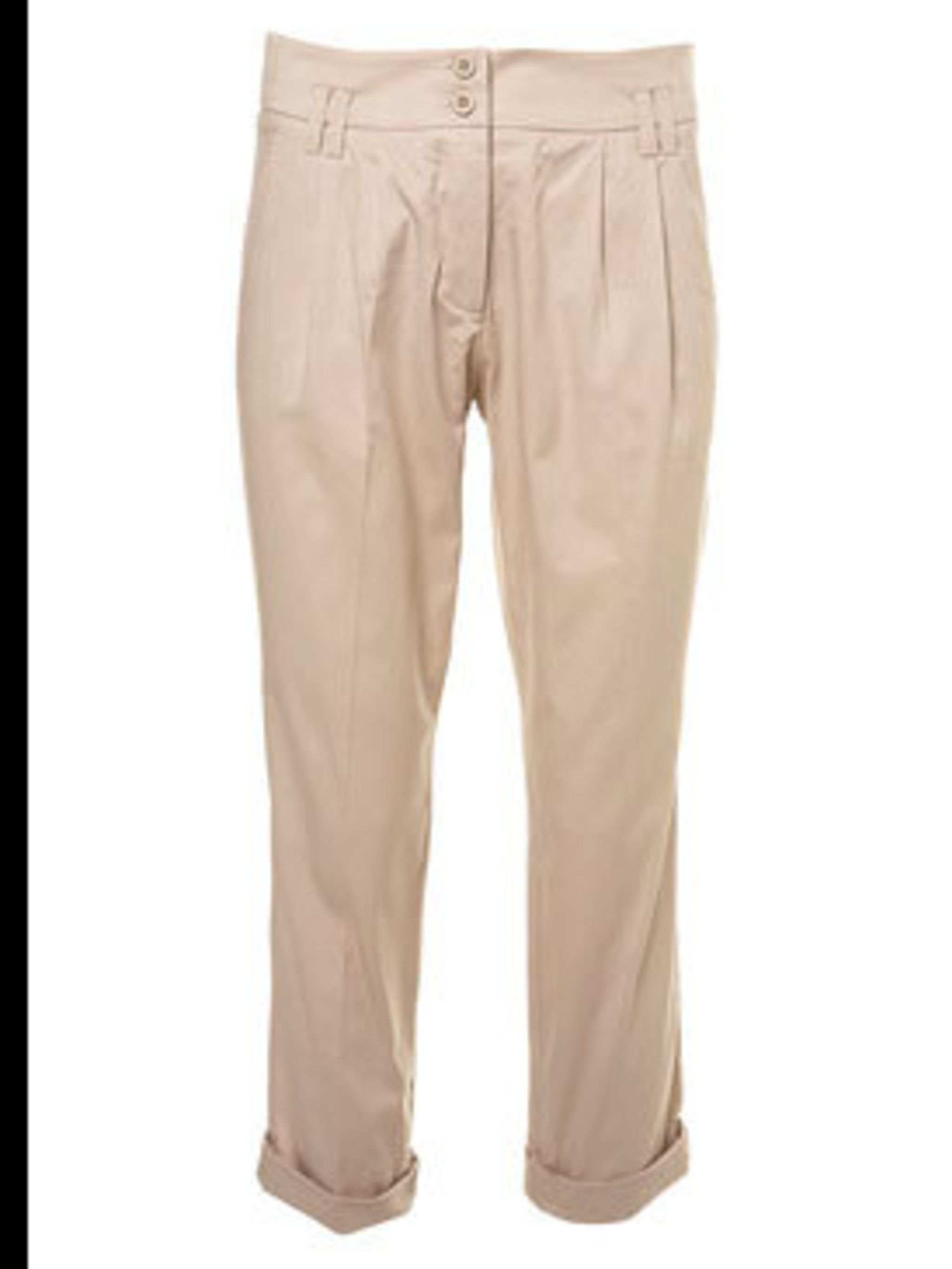 "<p>Peg leg trousers, £30, by <a href=""http://www.topshop.com/webapp/wcs/stores/servlet/ProductDisplay?beginIndex=0&viewAllFlag=&catalogId=19551&storeId=12556&categoryId=155556&parent_category_rn=74433&productId=1232324&langId=-"