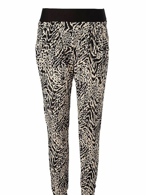 <p>Animal print trousers, £25, by New Look (0500 454 094)</p>