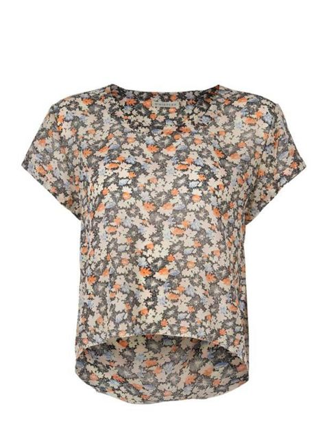 <p>Floral printed tee, £65, by Whistles (0870 770 4301) </p>