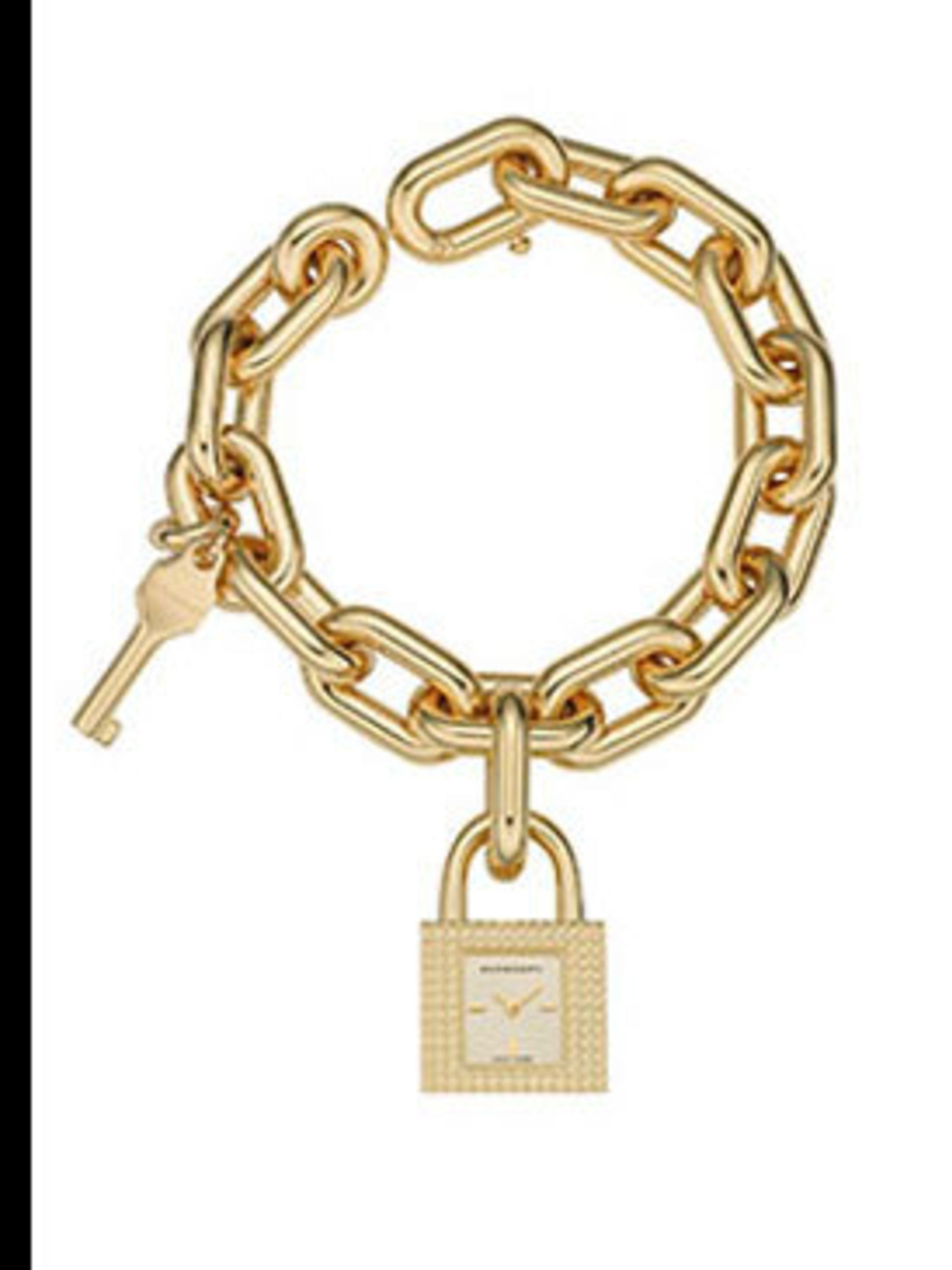 <p>Padlock watch, £475, by Burberry (0207 806 1303)</p>