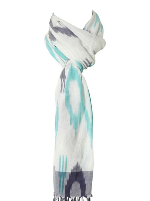 "<p>Pastel print scarf, £18, by <a href=""http://www.oasis-stores.com/Pastel-Ikat-Scarf/Scarves/oasis/fcp-product/5250010500"">Oasis</a></p>"
