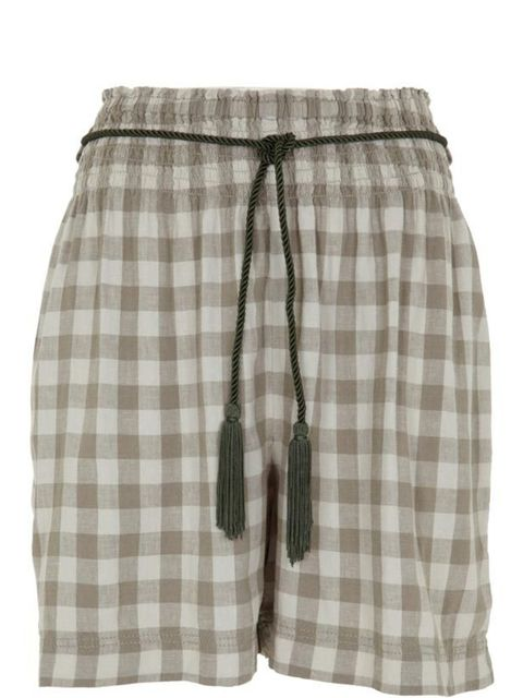 "<p>Gingham shorts, £24.99, by <a href=""http://xml.riverisland.com/flash/content.php"">River Island </a></p>"