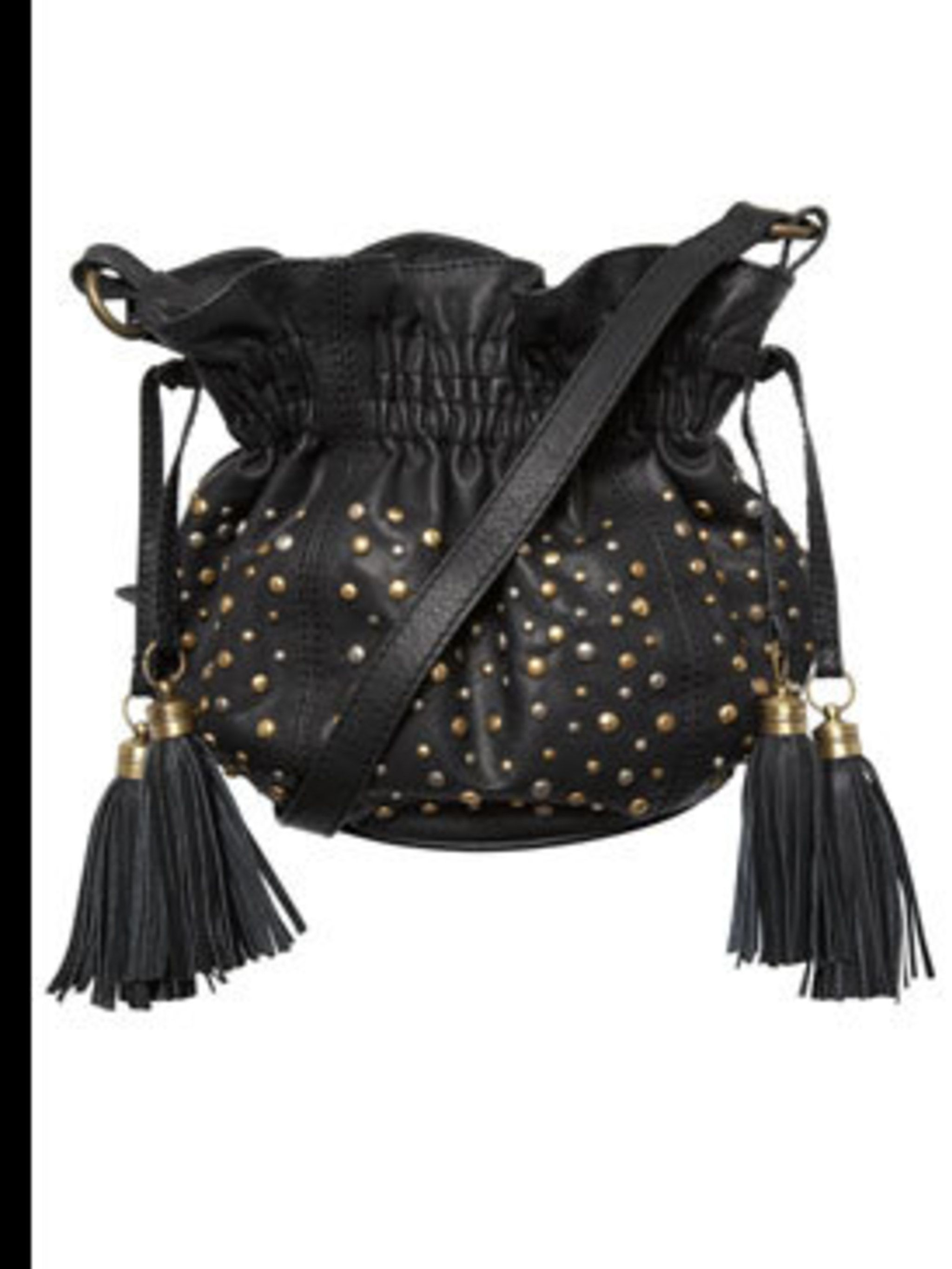 "<p>Black bucket bag, £40, by <a href=""http://www.oasis-stores.com/pws/Home.ice"">Oasis</a></p>"
