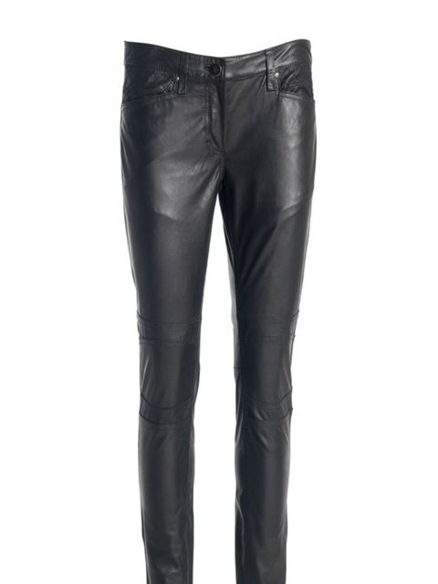<p>1971 Reiss leather biker trousers, £250, for stockists call 020 7473 9630</p>