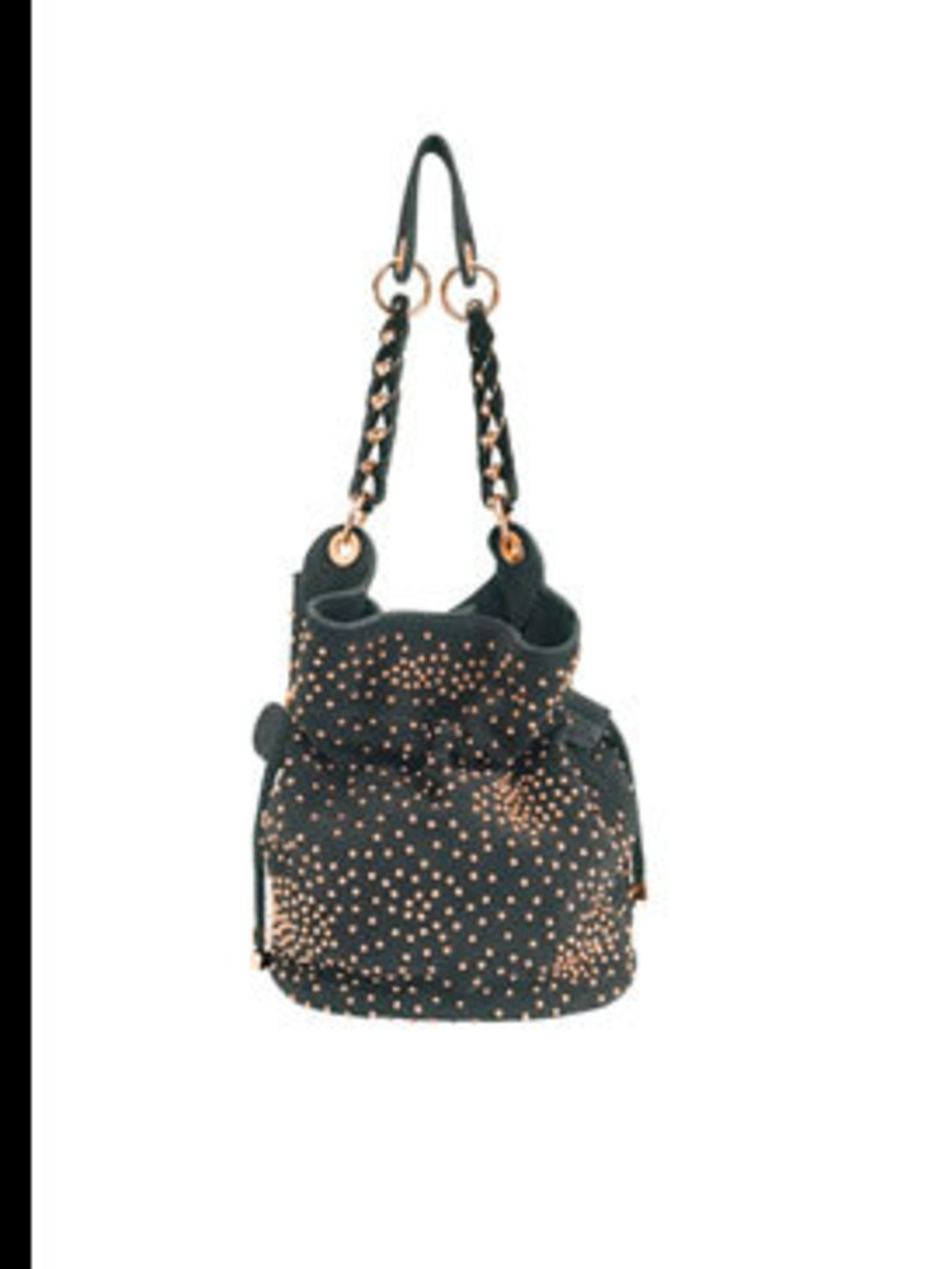 "<p>Black studded bag, £159, by <a href=""http://www.reiss.co.uk/shop/womens/bags/sabina/black/"">Reiss</a></p>"