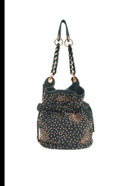 """<p>Black studded bag, £159, by <a href=""""http://www.reiss.co.uk/shop/womens/bags/sabina/black/"""">Reiss</a></p>"""