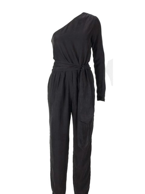 "<p>One sleeved jumpsuit, £169, by <a href=""http://www.reiss.co.uk/shop/womens/casual_trousers/jagger/black/"">Reiss</a></p>"