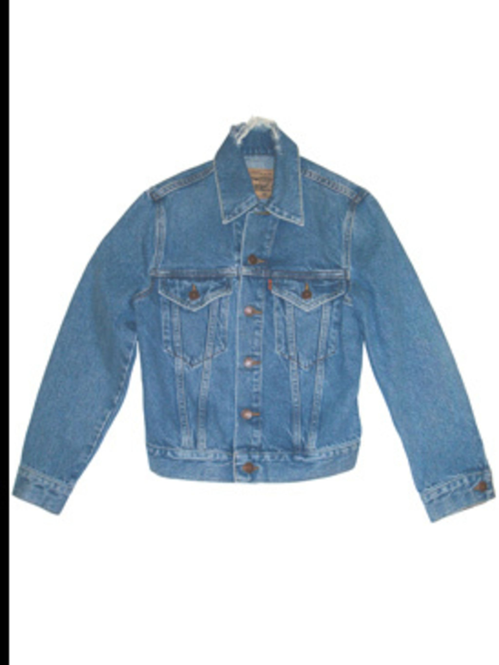<p>Denim jacket, £130, by Levi's Orange Tab (01604 599 735).</p>