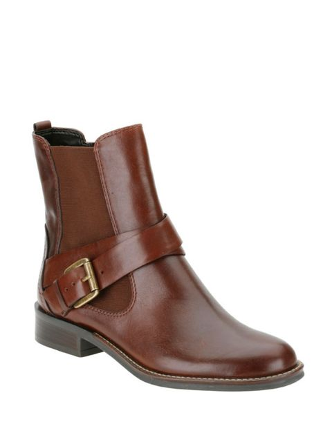 <p>Clarks leather Chelsea boots, £69.99, for stockists call 08444 777 744</p>