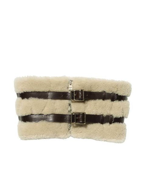 "<p><a href=""http://uk.burberry.com/fcp/product/clothing-accessories/scarves/shearling-snood/10000013173?colour=black&lastcategoryurl=true"">Burberry</a> shearling snood, £495</p>"