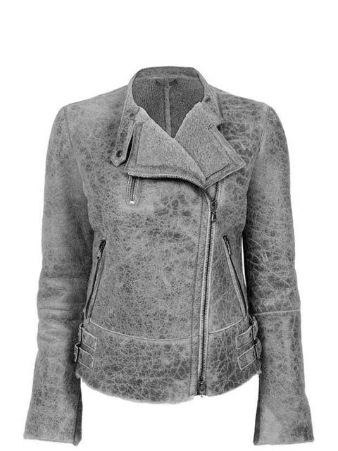 "<p>Lot78 light grey aviator jacket, £899, at <a href=""http://www.net-a-porter.com/Shop/Designers/Lot78/All"">Net-a-Porter</a></p>"