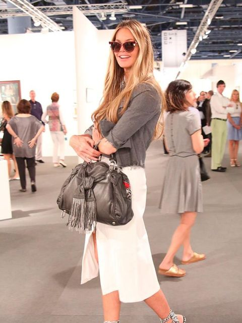 <p>Elle Macpherson at the Art Basel VIP Preview, Miami, December 2014.</p>
