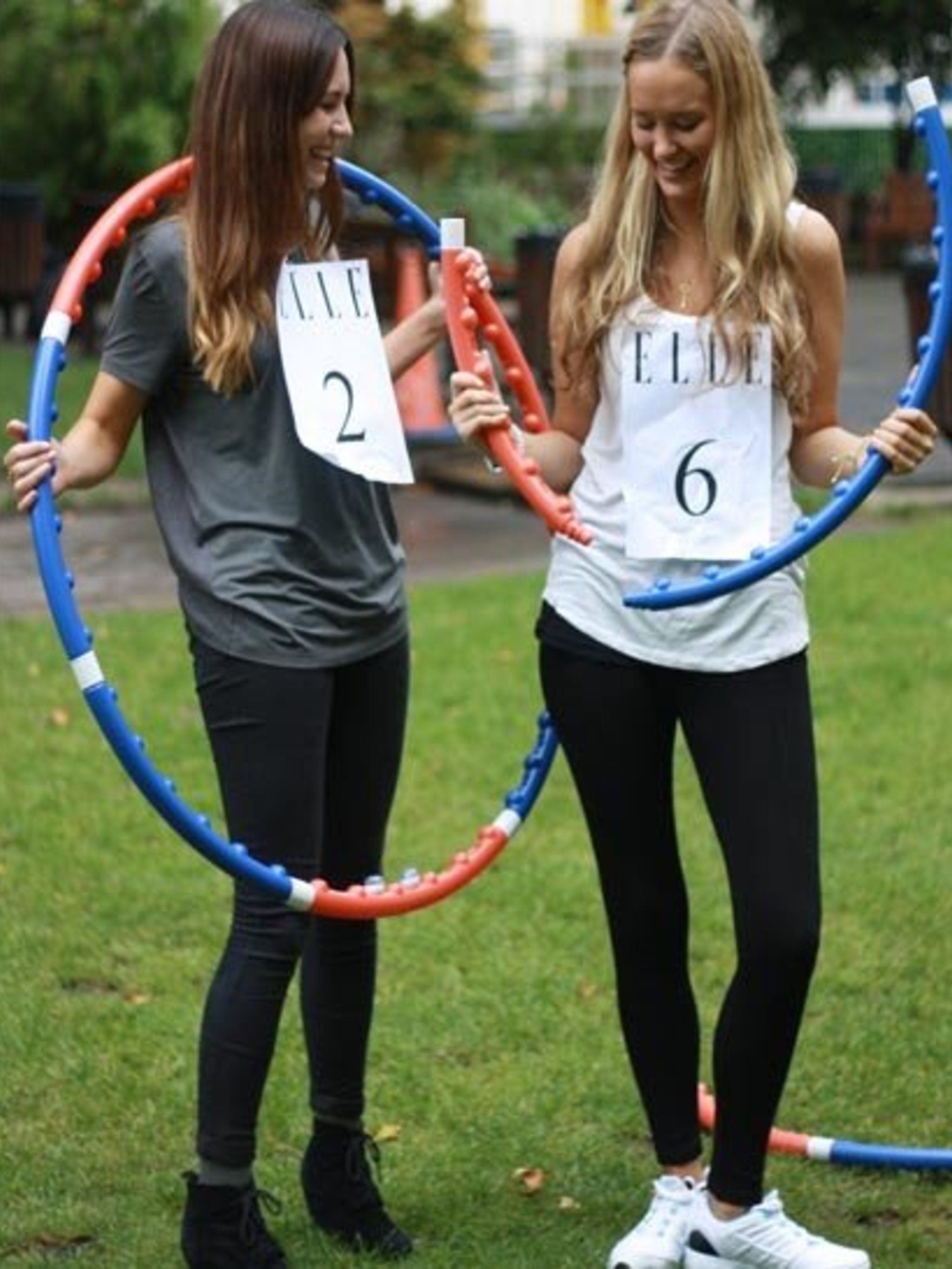 <p>We learnt a couple of valuable lessons in the 'hula-off' between Acting Picture Editor Nikki (2) and Beauty Intern Joely (6): one, make sure your hula-hoop is properly assembled. And two, hula-hooping in wedges is a <em>bad </em>idea. Not surprisingly