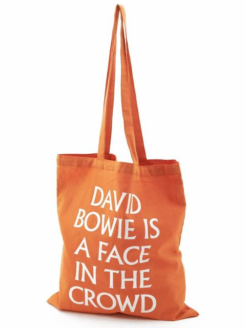 <p>Exclusive V&A <em>David Bowie is a face in the crowd</em> exhibition bag</p>