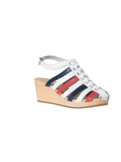 <p>Swedish Hasbeens striped wedges, £175, at the Swedish Hasbeens pop-up shop, 12 Dray Walk, The Old Truman Brewery, 91 Brick Lane, E1 6RF</p>