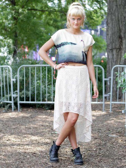 <p>Alexandra, 21, Student.H&M shirt, Forever 21 skirt, Jeffrey Campbell shoes.</p>