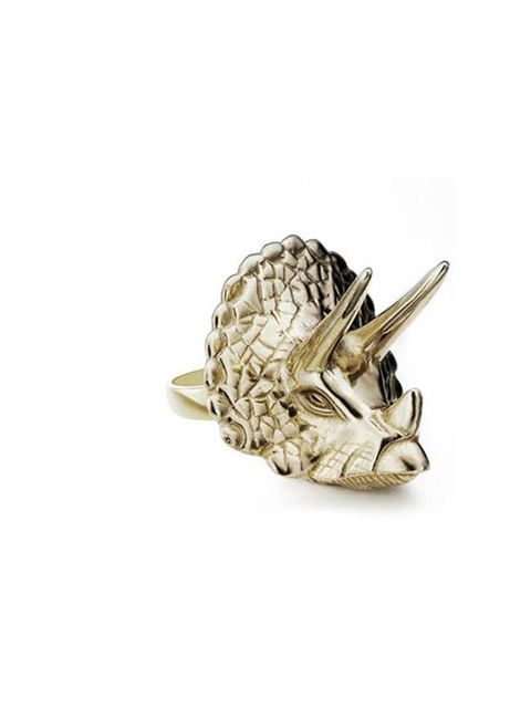 "<p>Emma Franklin Triceratops Ring, £435, at <a href=""http://www.emmafranklin.net/"">www.emmafranklin.net</a></p>"