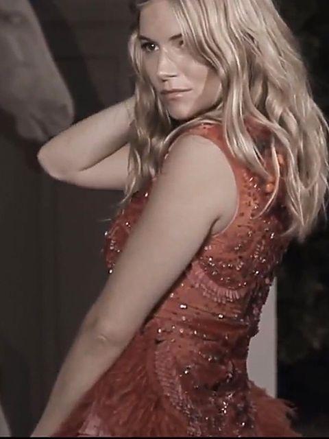 <p>Sienna Miller wearing Matthew Williamson in his anniversary video</p>