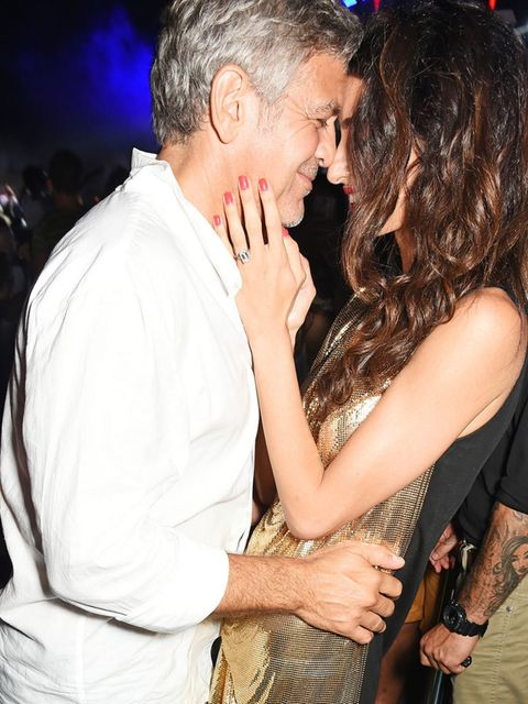 Amal and George Clooney attend the official launch of Casamigos Tequila in Ibiza and Spain at Ushuaia Ibiza Beach Hotel