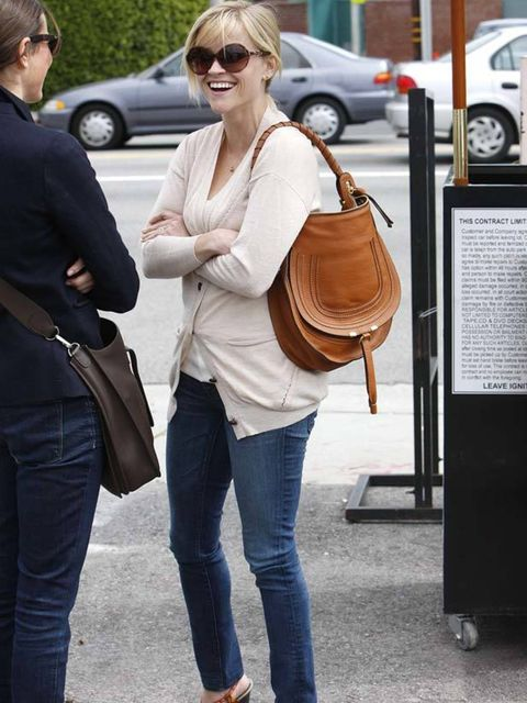 """<p><a href=""""http://www.elleuk.com/starstyle/style-files/(section)/reese-witherspoon"""">Reese Witherspoon</a> wearing her wedges with Spring knits and a <a href=""""http://www.elleuk.com/catwalk/collections/chloe/"""">Chloe</a> handbag</p>"""