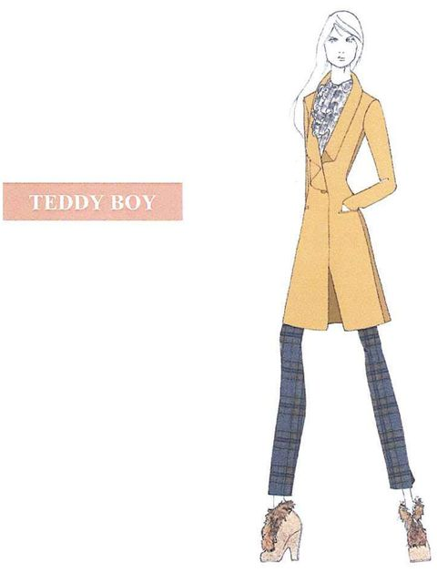 <p>Sketch of a Teddy Boy-inspired look from the Vivienne Westwood Red Label A/W '12 collection</p>