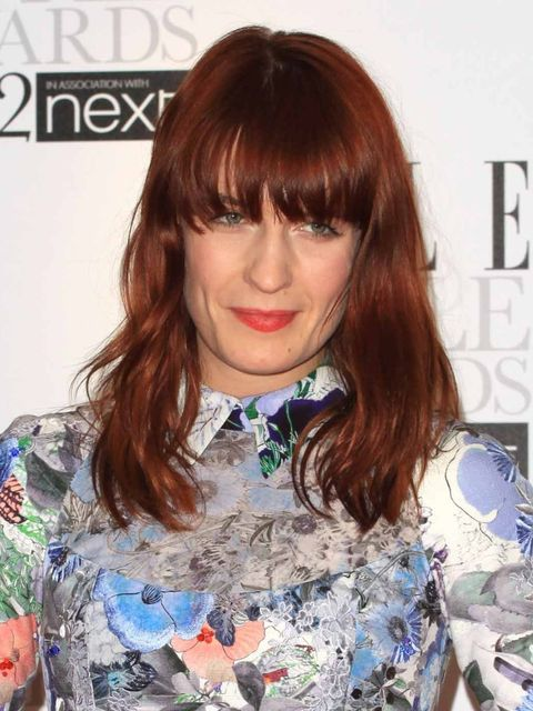 <p>Florence Welch at the ELLE Style Awards with lighter hair.</p>