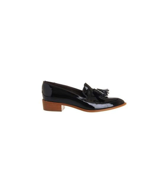 "<p>Features Assistant Georgia Simmonds will sharpen up skinny jeans and a chunky knit with these elegant black loafers.</p><p><a href=""http://www.office.co.uk/view/product/office_catalog/2,30/1548702740"">Office</a> loafers, £92</p>"