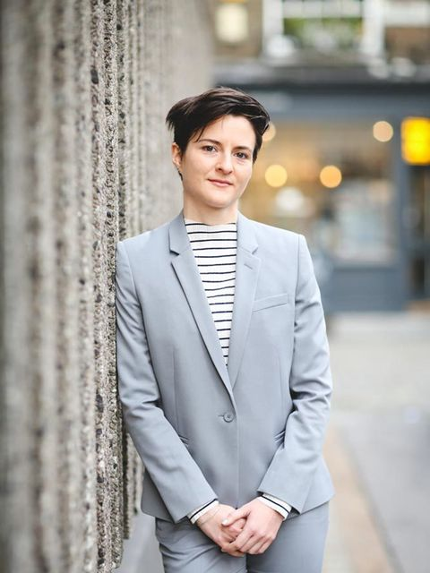 <p>Lotte Jeffs , Deputy Editor</p>  <p>Topshop suit and top</p>