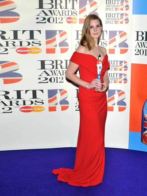 "<p>International Breakthrough Act award winner <a href=""http://www.elleuk.com/star-style/celebrity-style-files/lana-del-rey"">Lana Del Rey</a> at the 2012 Brit Awards</p>"
