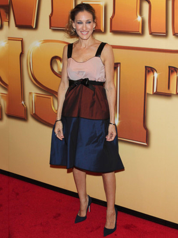 <p>Sarah Jessica Parker wearing Narciso Rodriguez</p>