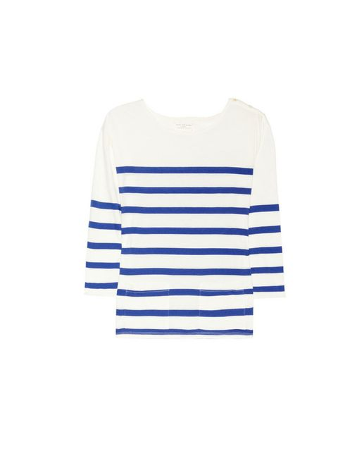 """<p>You simply can't beat the classic Breton. Style with the new season metallics or pastels for a simple, fresh update... Chinti &amp&#x3B; Parker striped top, £80, at Net-a-Porter</p><p><a href=""""http://shopping.elleuk.com/browse?fts=chinti+%26+parker+striped+"""
