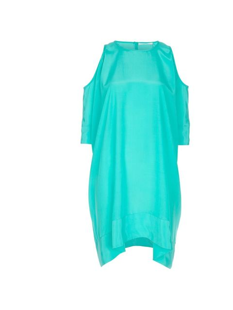 """<p>Richard Nicoll cut-out dress, £385, at <a href=""""http://www.start-london.com/green-silk-cut-out-dress.html"""">Start London</a></p>"""
