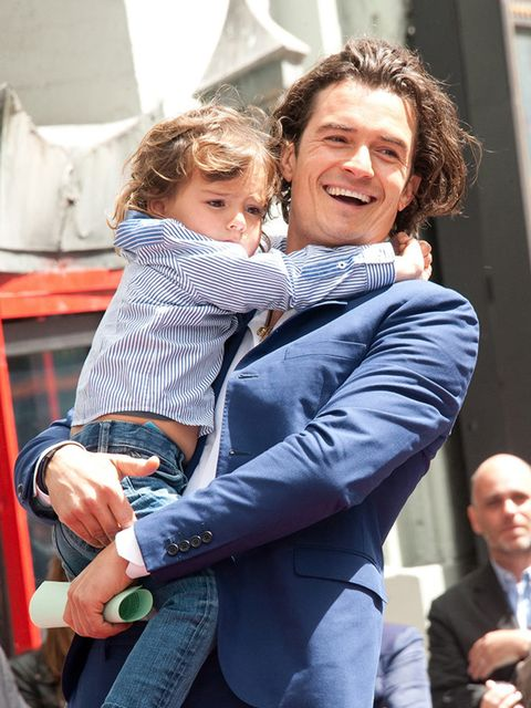 <p>Orlando Bloom with Flynn at The Hollywood Walk Of Fame ceremony honouring Orlando Bloom, April 2014.</p>