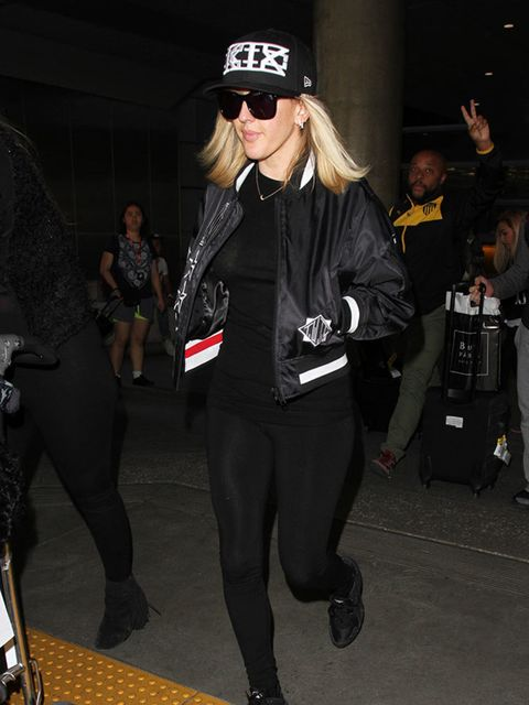 Ellie Goulding at LAX in Los Angeles, February 2016.