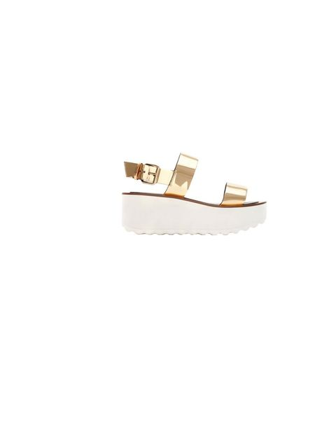 "<p>Space-age, retro and eccentric, <a href=""http://www.zara.com/uk/en/new-this-week/woman/shiny-block-wedge-c363008p1294702.html"">Zara</a>'s metallic flatforms tick every box, £59.99</p>"
