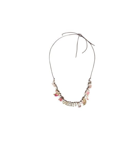 """<p><a href=""""http://www.magpiewardrobe.co.uk/products_jewels.html"""">The Magpie & The Wardrobe</a> 'Queenie' charm necklace, £88</p>"""
