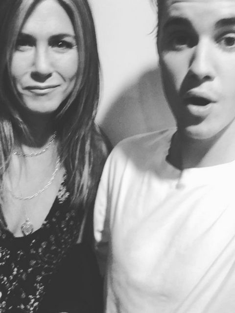 <p>As Justin Bieber stormed social media to give himself a self-presecribed makeover, he cleverly posted a selfie with - possibly - the most loved woman in the world: Everyone's best friend, Jennifer Aniston. Jen and Justin do make a rather cute pair; the