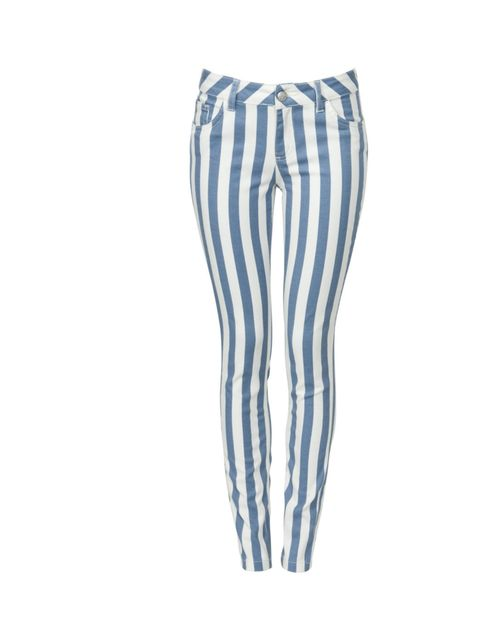 "<p><a href=""http://www.newlook.com/shop/womens/jeans/32in-blue-candy-stripe-skinny-jeans_271321349"">New Look</a> blue striped jeans, £24.99</p>"